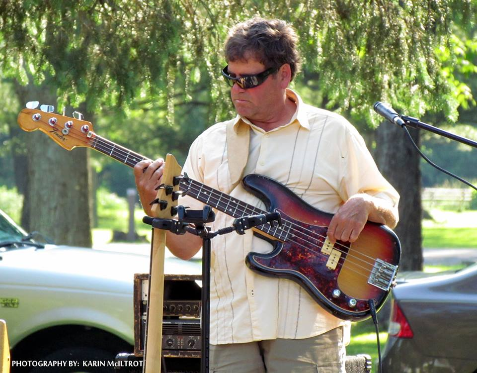 Tom with the bottom end on bass